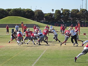 The San Francisco 49ers conduct training camp ...