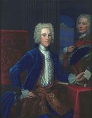 James Hamilton, 5th Duke of Hamilton - 1724 portrait of the duke and his tutor