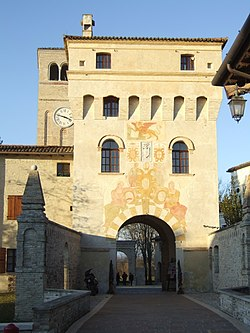 The main gate of the abbey of Santa Maria in Sylvis.