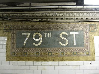 79th Street (IRT Broadway–Seventh Avenue Line) - Image: 79th Street IRT Broadway–Seventh Avenue 1