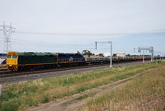 New South Wales 80 class locomotive - Greentrains' 80s1 at Somerton in January 2009