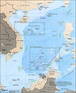 Nine-Dash Line Map delineating Chinese territorial claims to South China Sea waters