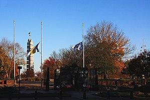 Philadelphia Korean War Memorial - Image: A407, Philadelphia Korean War Memorial, wide view of park