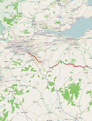 A72 road - Image: A72 road map