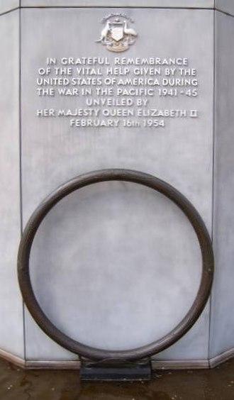 Australian–American Memorial - Image: AA memorial 1