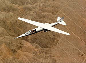 NASA AD-1 - Overhead view