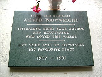 Alfred Wainwright - Plaque to Alfred Wainwright in Buttermere parish church