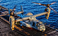 A U.S. Marine Corps MV-22B Osprey assigned to Marine Medium Tiltrotor Squadron (VMM) 266 (Reinforced), 26th Marine Expeditionary Unit (MEU), prepares to takeoff from the flight deck of the USS Kearsarge (LHD 3) 130713-M-SO289-022.jpg