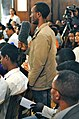 A Young Man Poses a Question to Secretary Kerry in Addis Ababa (8841854468).jpg