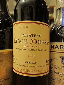 A bottle of 1981 Chateau Lynch-Moussas.jpg