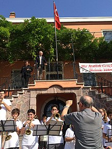 A brass band in Izmir preparing for Independence Day celebrations, May 18, 2015.jpg