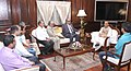 A delegation from J&K accompanied by the Chairman, Press Council of India, Justice Markandey Katju calling on the Union Home Minister, Shri Rajnath Singh, in New Delhi on September 17, 2014.jpg