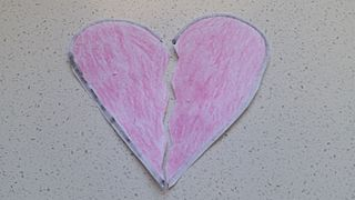 Broken heart metaphor for intense emotional/physical stress or pain one feels at experiencing longing