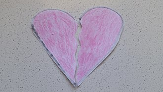Broken heart - A paper-made symbolisation of a broken heart