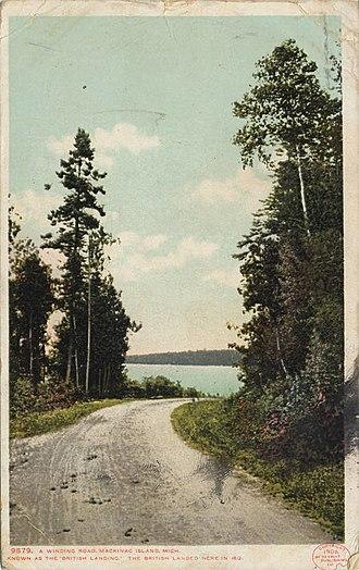 British Landing - Lake Shore Road approaching British Landing, 1906.