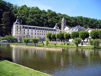 Brantôme, Dordogne - Abbey of Brantôme and its bell tower