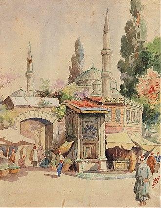 Iraqi art - 19th c. painting by Abdul Qadir Al Rassam