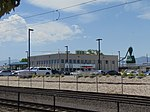Across the TRAX tracks at UTA Police Station, Jul 16.jpg