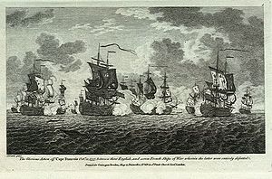 Battle of Cap-Français - Image: Action off Cape Francois
