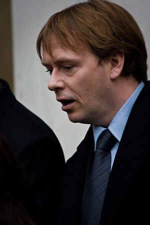 Adam Woodyatt - Woodyatt in 2009 at Wendy Richard's funeral service