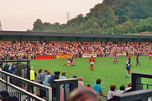 Adams Park - Opening match on 9 August 1990, against Nottingham Forest