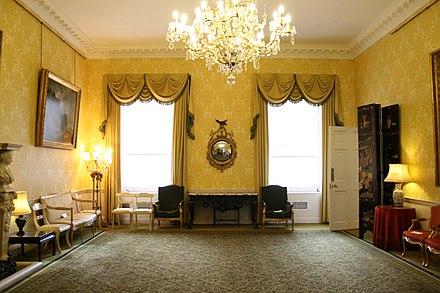As First Lord of the Admiralty, Churchill's London residency became Admiralty House (music room pictured). Admiralty House - Music Room.jpeg