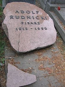 Adolf Rudnicki monument.JPG