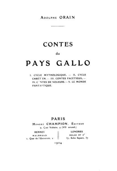 File:Adolphe Orain - Contes du Pays Gallo.djvu