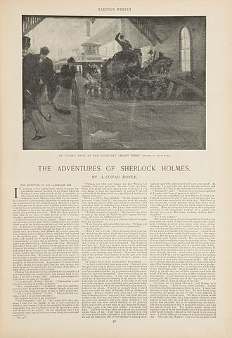"""The Adventure of the Cardboard Box - Illustrated by Louis Loeb, """"The Adventure of the Cardboard Box"""" was published in Harper's Weekly (January 14, 1893)."""