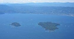 Aerial view of Îles de Lérins (cropped).jpg