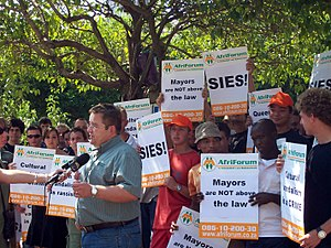 AfriForum - AfriForum protest outside the Pretoria High Court