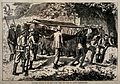 Africa; wounded soldier being carried to a hospital camp. Wo Wellcome V0015333.jpg