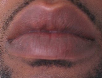 Lip - Lips of a young man