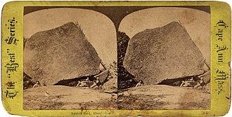 Agassiz Rock - An 1870s stereoview depicting Little Agassiz Rock