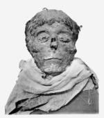 The mummified head of Ahmose I