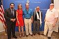 Aiman Mazyek, Kimberly Emerson, John B. Emerson, Volker Schlöndorff and James D. Melville Jr., July 2014.jpg