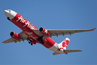 AirAsia X - An AirAsia X Airbus A330-300 Taking off at Perth Airport