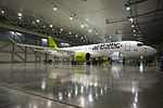 AirBaltic Bombardier CS300 mainenance (33221395865).jpg