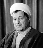 Akbar Hashemi Rafsanjani during a press conference, 1987.jpg