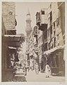 Al-Surujiyya street and the minaret of the funerary mosque of Mamluk Amir Janim al-Bahlawan, Cairo.jpg