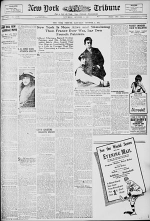 Juliette Roche - Image: Albert Gleizes and Juliette Roche Gleizes, New York Tribune, 9 October 1915
