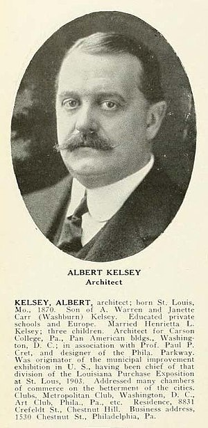 Albert Kelsey - Albert Kelsey, Architect. Who's Who in Philadelphia, 1920.