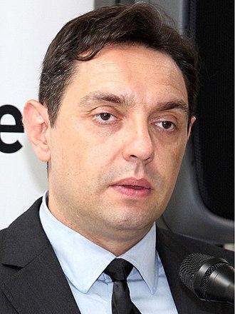Ministry of Defence (Serbia) - Aleksandar Vulin, the current Minister of Defence of Serbia.