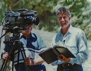Alex Cord - Cord on the set of The Paddlefish: An American Treasure in 1993