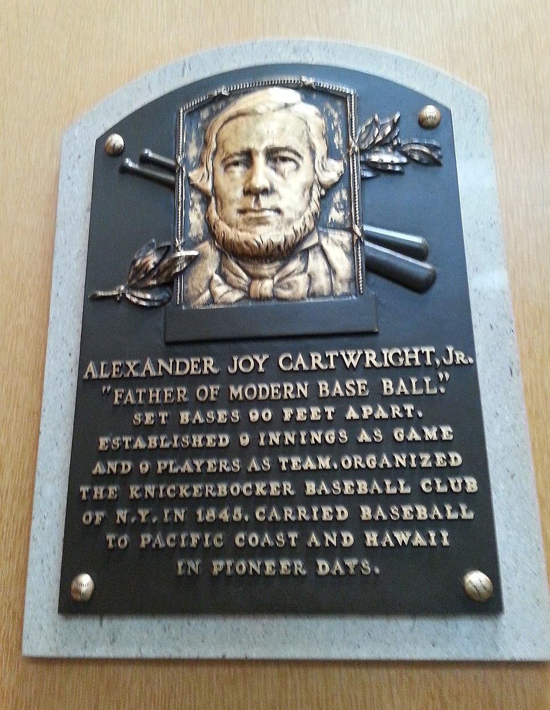 Alexander Cartwright HOF plaque
