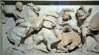 Hellenistic art - Scene from the Alexander Sarcophagus