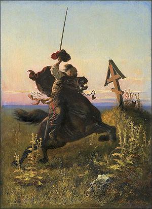Alfons Dunin-Borkowski - Image: Alfons Dunin Borkowski. KOZAK W STEPIE 1881