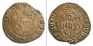Alfonso, Prince of Asturias (1453–1468) - Coin minted by Alfonso's supporters in Seville.