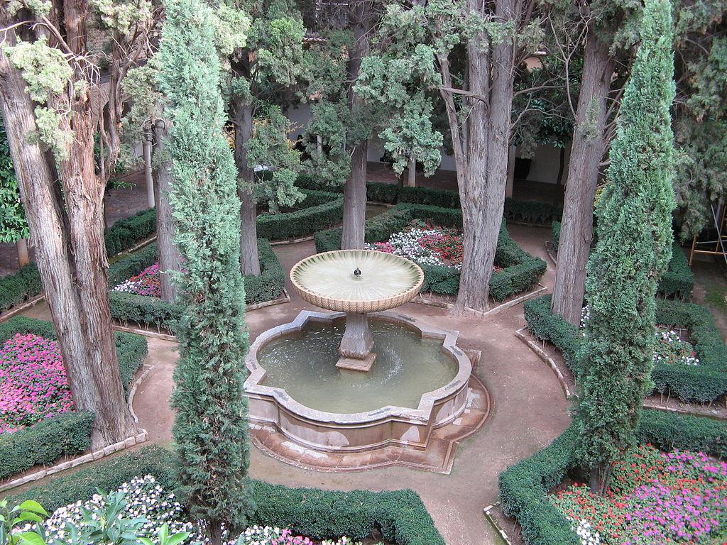 Fuente de la Lindaraja, inspiración de Washington Irving en sus famosos Cuentos de la Alhambra