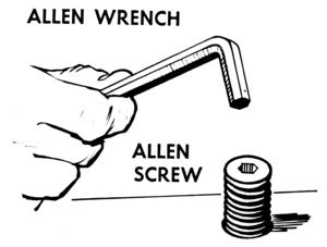 English: An illustration of an Allen (hex) wre...